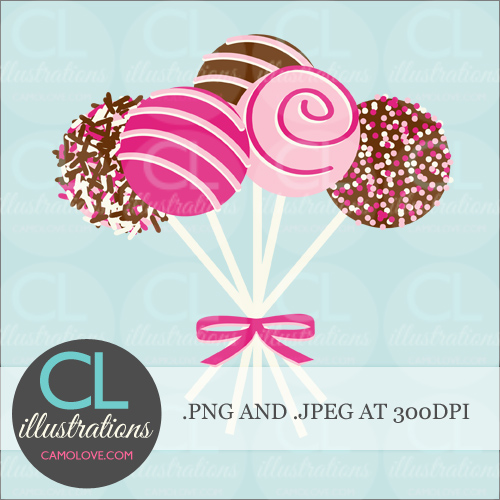 Cake Pop Clipart Free : andCute Clip Art - illustrations, graphics, printables and ...