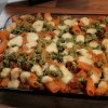 Roasted Veggie Rigatoni with Pine Nut Crunch