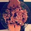 Spelt salad with walnuts and dried cherries