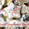 Maple Gingerbread Cookies