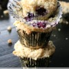 Blueberry Muffins with Sugar Cookie Streusel Topping