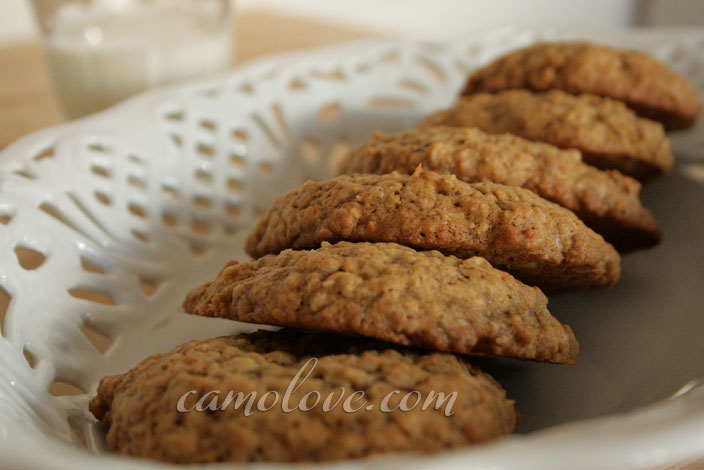Chewy Oatmeal Cookies with exotic sweeteners