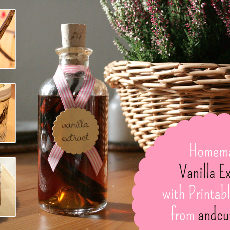 Homemade Vanilla Extract – with Printable Labels
