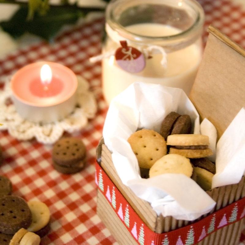 Mini Sandwich Cookies for Santa's Elves