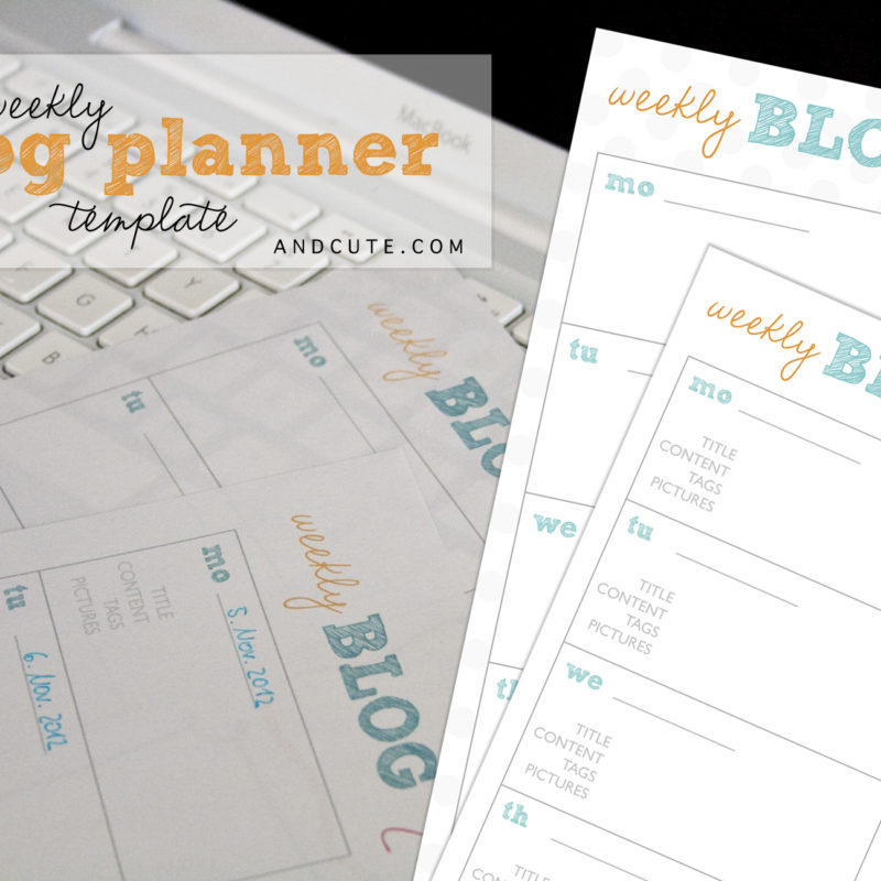 Weekly Blog Planner Printable Template