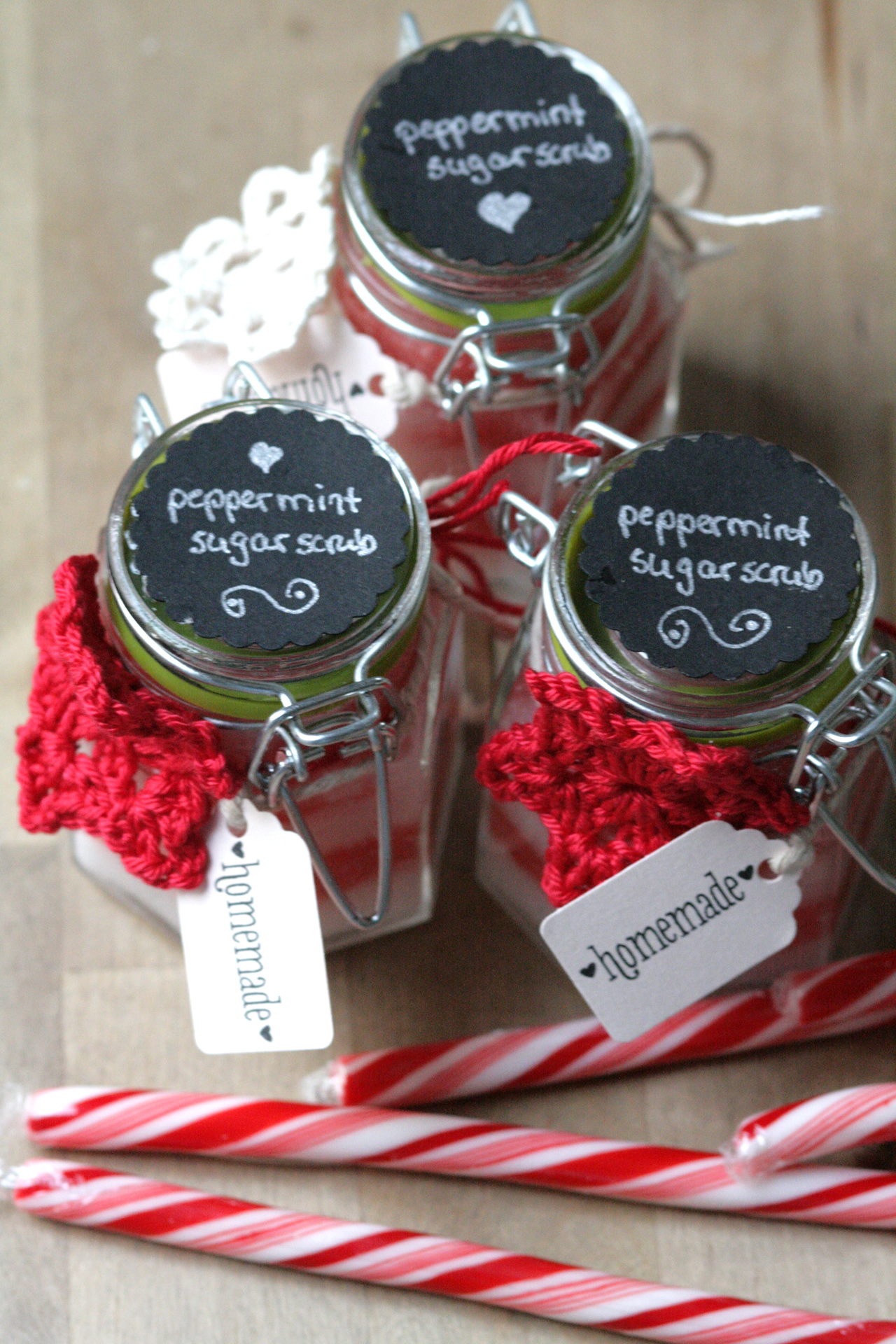 Peppermint Sugar Scrub Packaging
