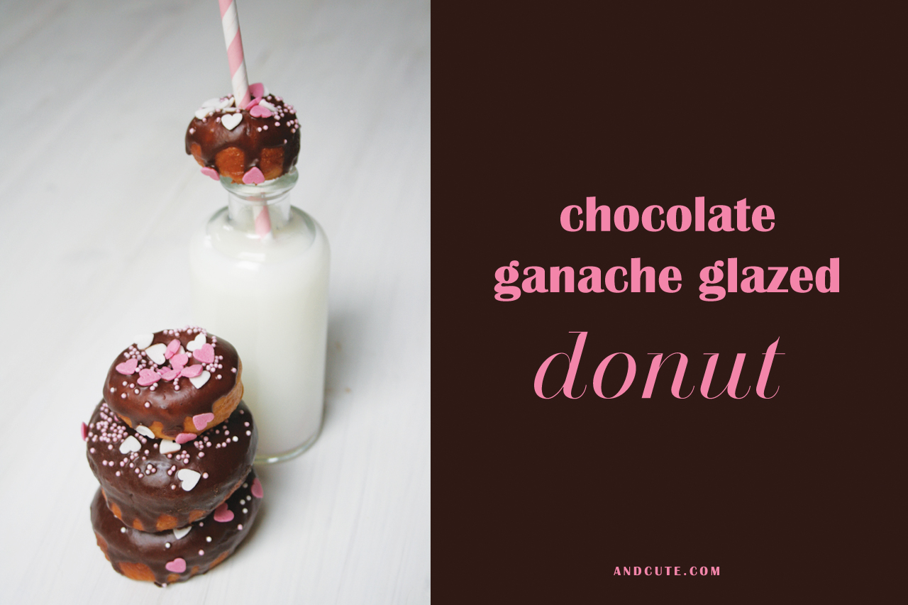 Chocolate Ganache Glazed Doughnuts