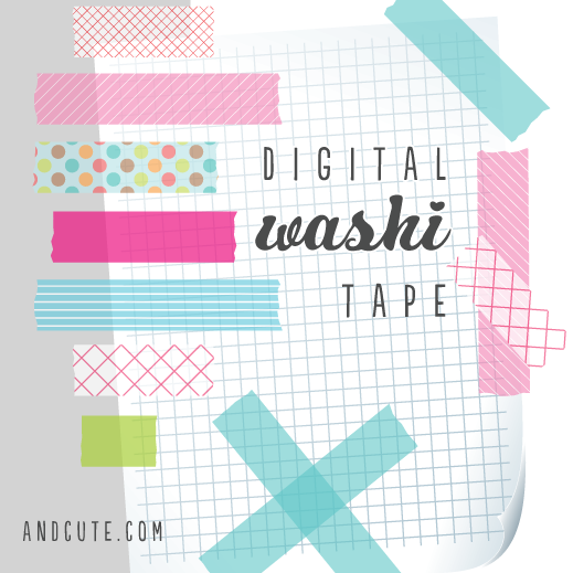 Digital Washi Tape Graphics Freebie