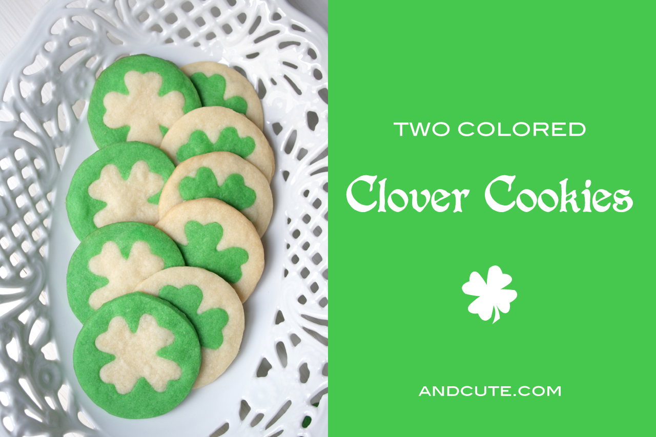 andcute.com :: Two Colored Clover Cookies Embellish