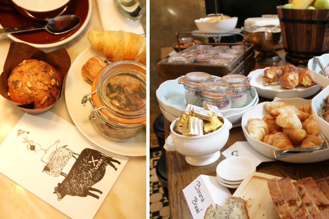 Ampersand Hotel Breakfast Food