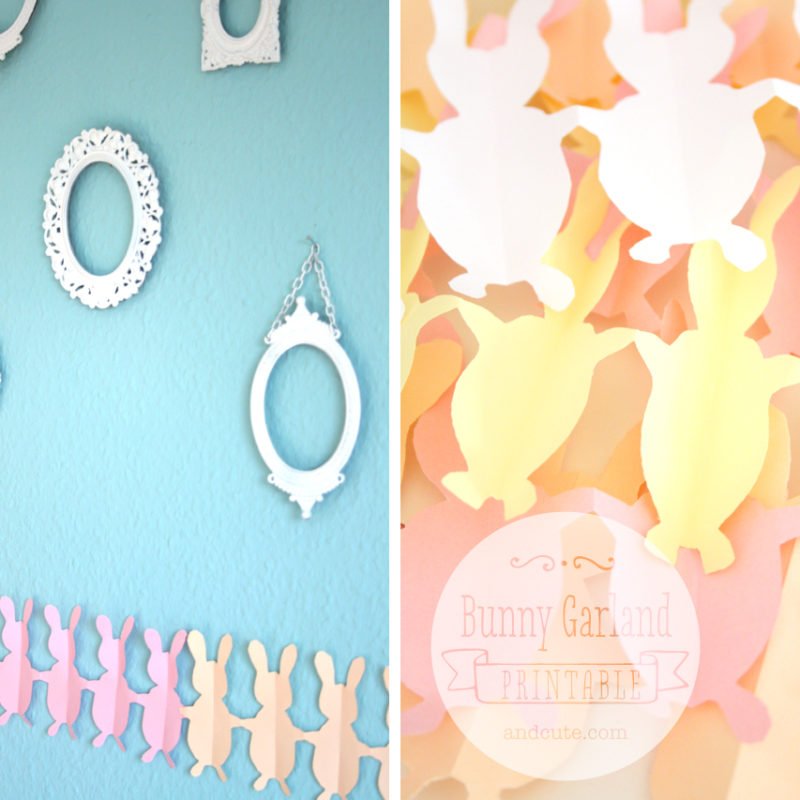 Printable Easter Bunny Garland