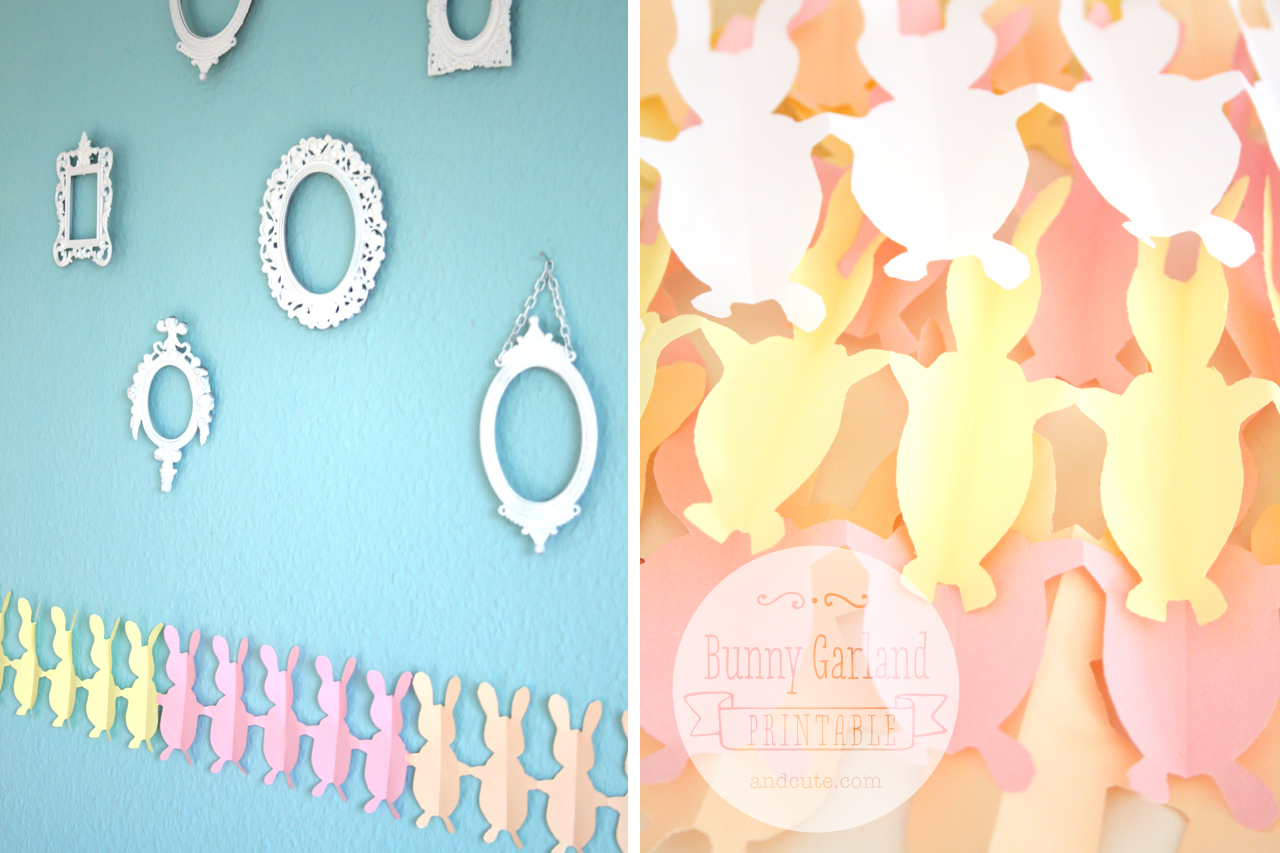 Bunny Garland Printable Template