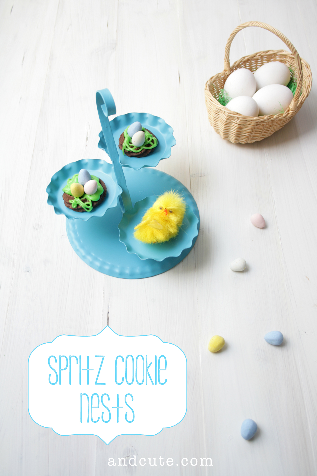 Spritz Cookie Nests and Chick