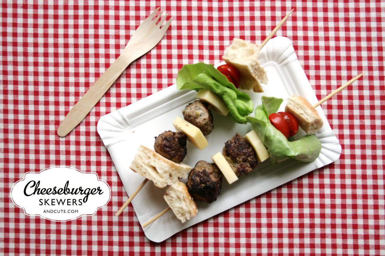 Cheeseburger Skewers