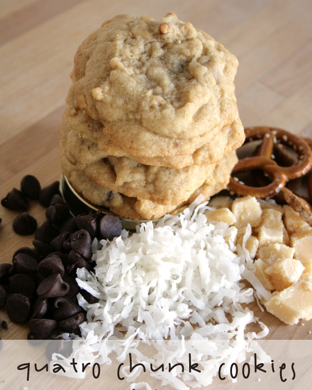 Chocolate Chip Caramel Coconut Pretzel Cookies