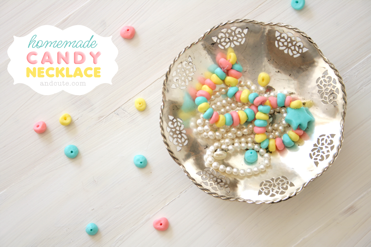 Homemade Candy Necklace with Pearls