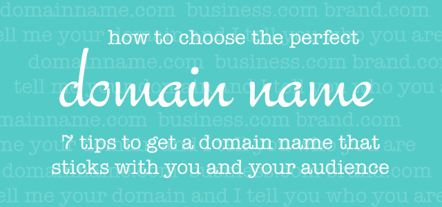 How to choose a domain name for your blog or website
