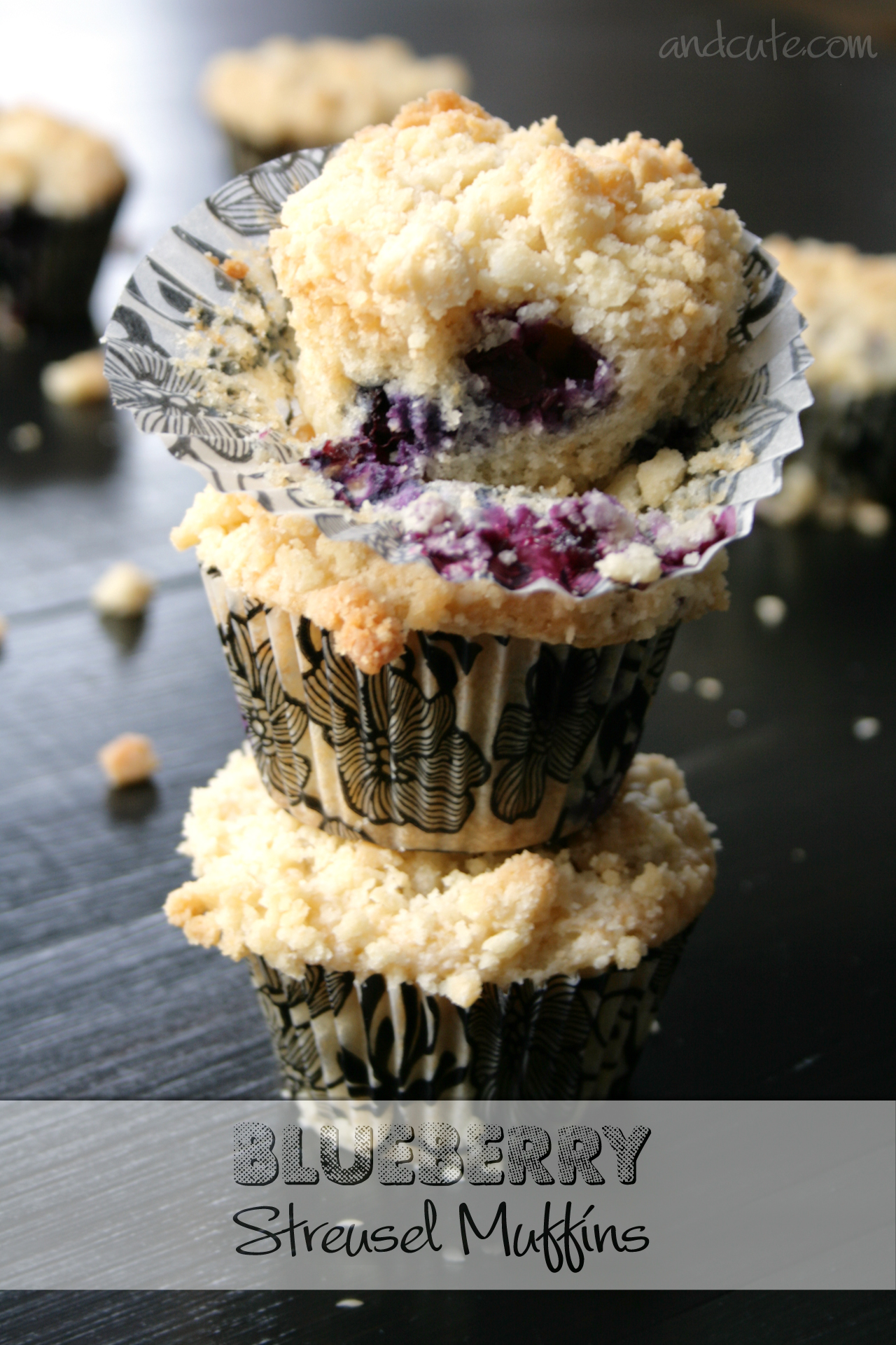 Blueberry Sugar Cookie Streusel Muffins