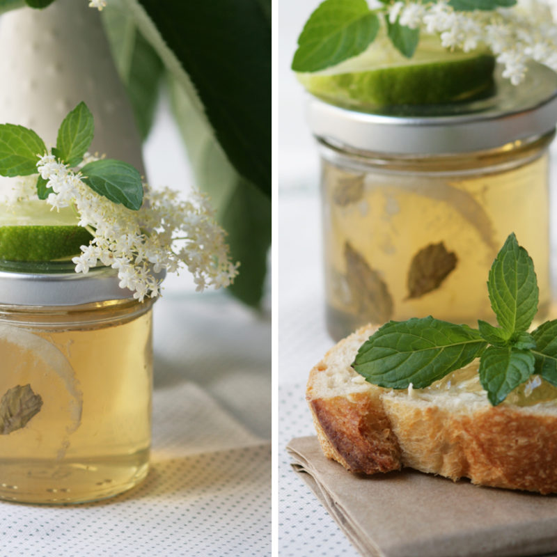 Hugo Jelly – Elderflower Lime Mint Jelly with Prosecco