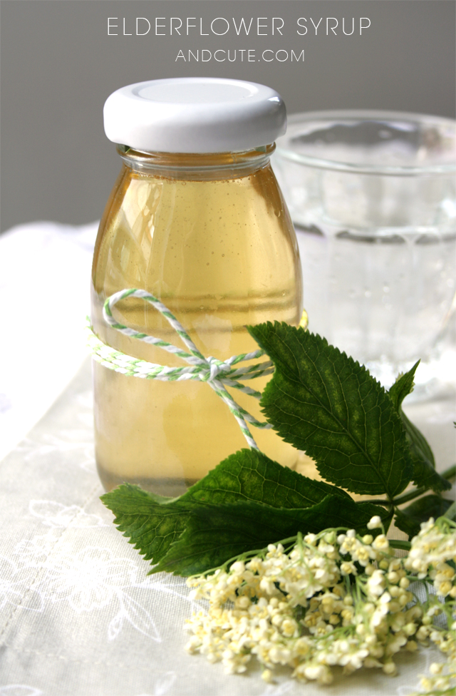 Elderflower Syrup with Flower