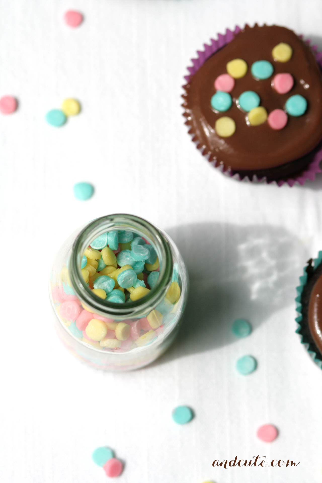 Homemade Confetti Sprinkles and Cupcake
