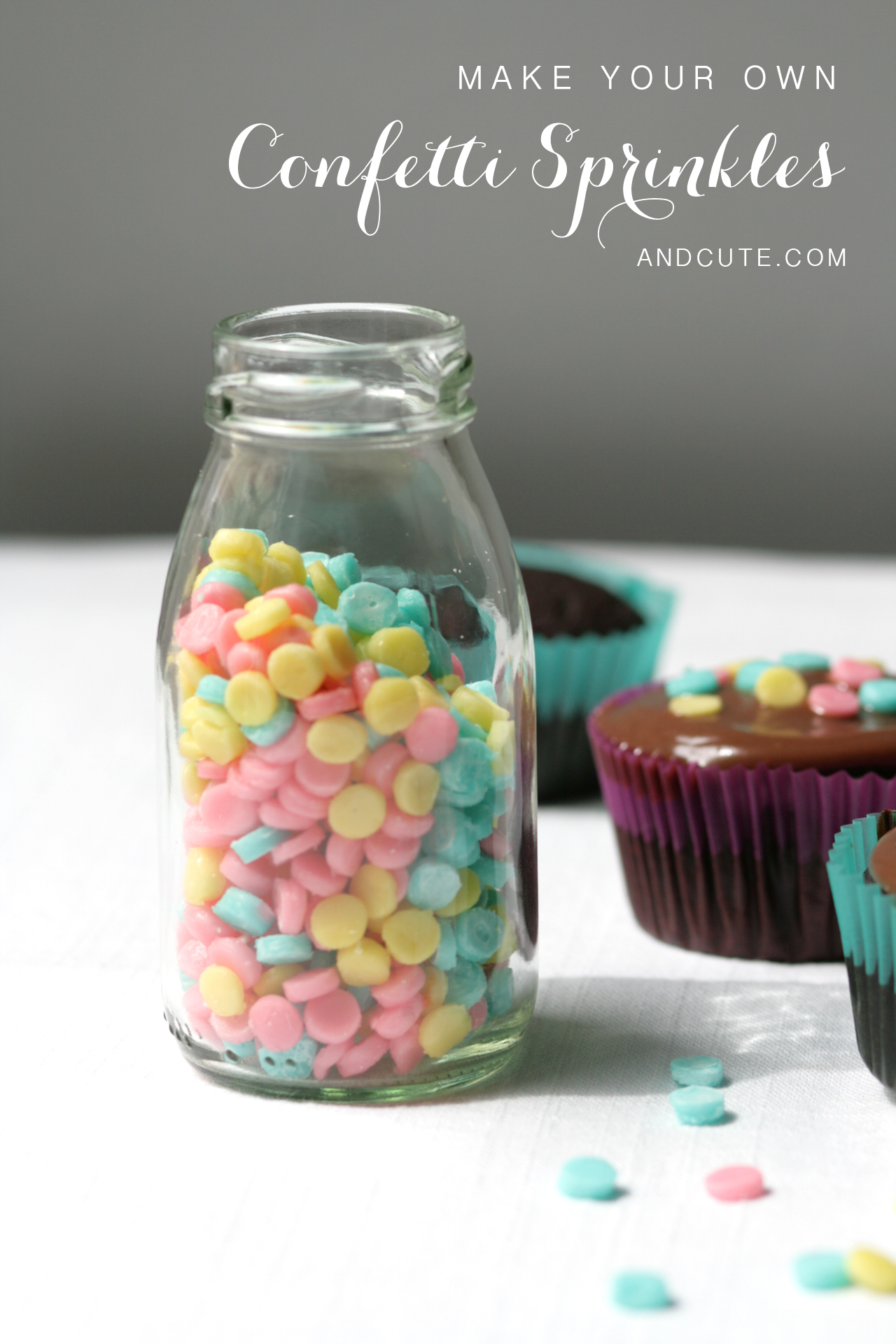 Make your own Bottle of Homemade Confetti Sprinkles