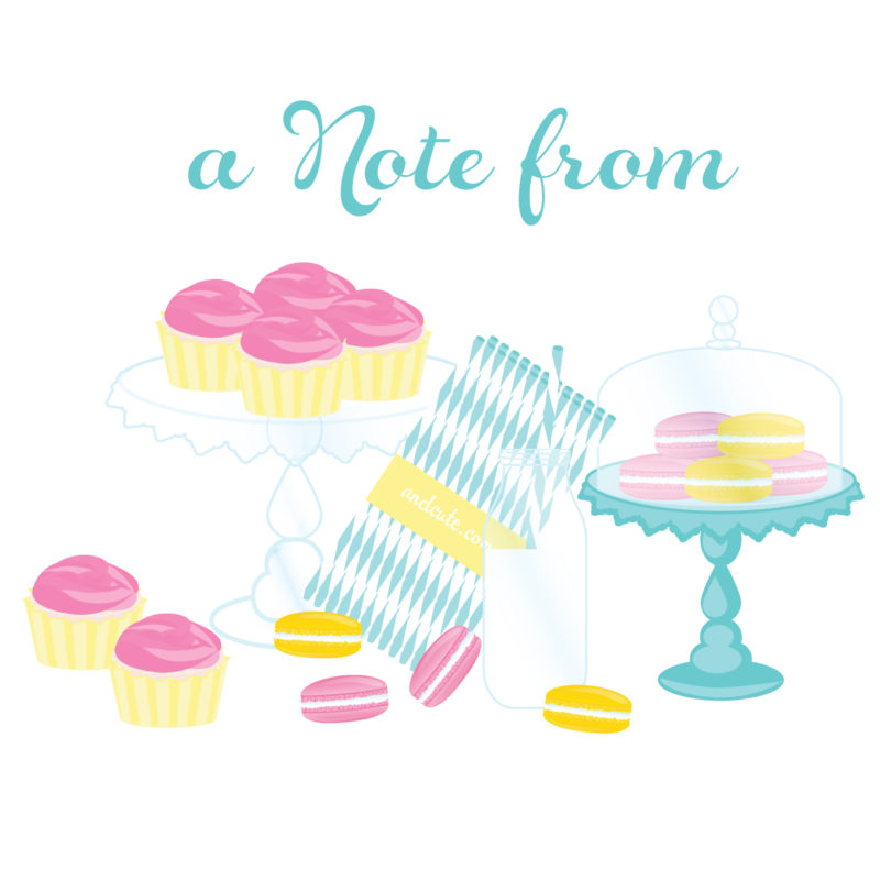 A Note From Dessert Table Printable First 10 will get a custom version!