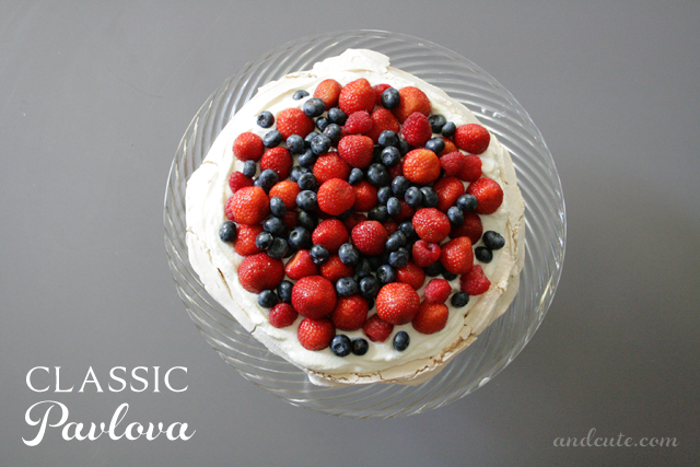 Classic Pavlova with Fresh Berries