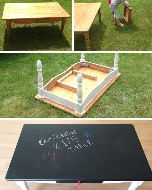 DIY Chalkboard Kid's Table