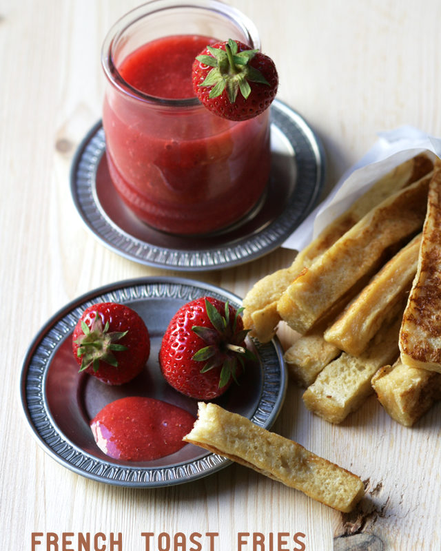 """French Toast Fries with Strawberry """"Ketchup"""""""