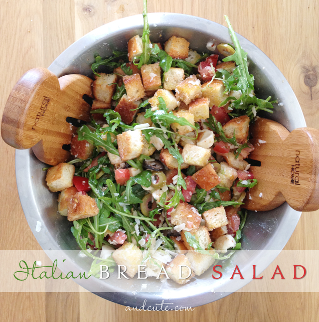 Italian Bread Salad a Perfect Summer Meal