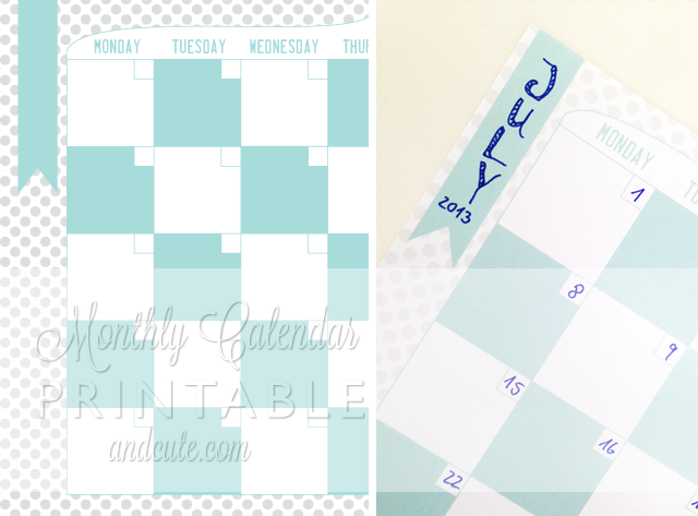 Monthly Calendar Planner Printable