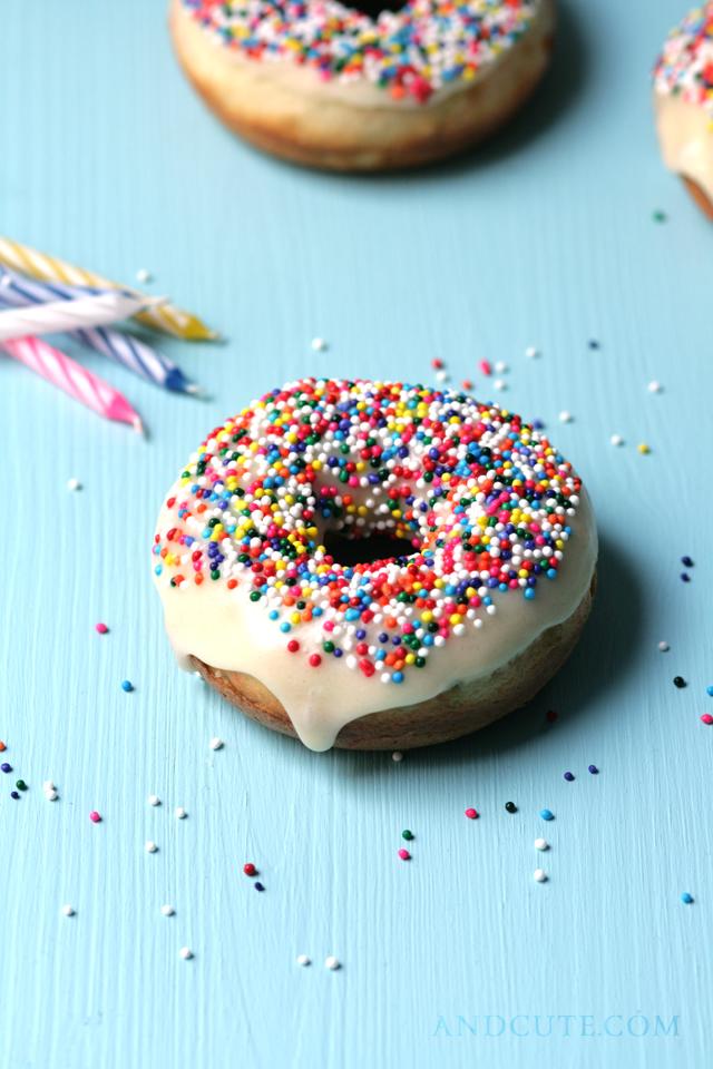 Baked Funfett Donuts