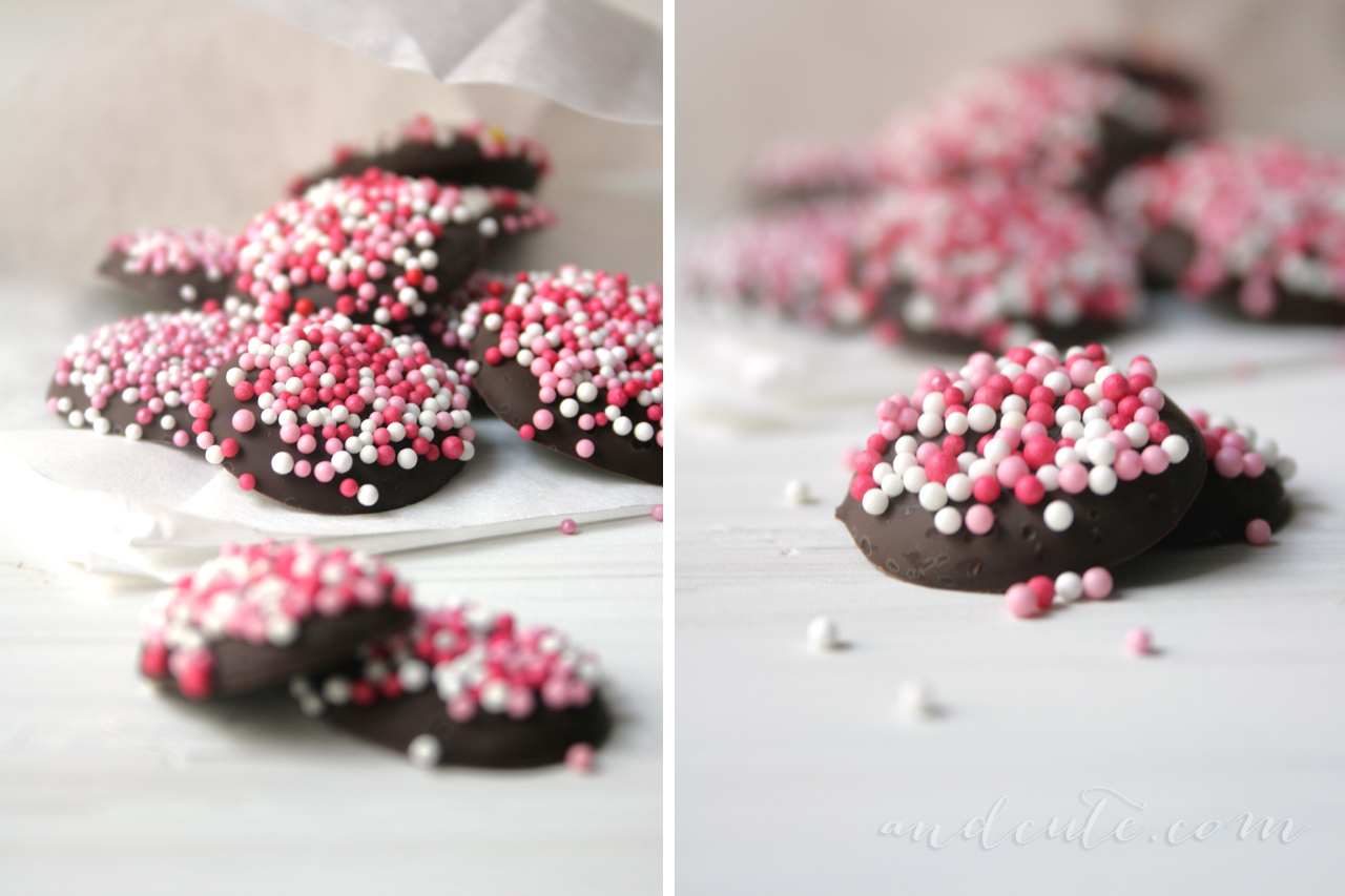 Nonpareils Chocolates Pink Sprinkles