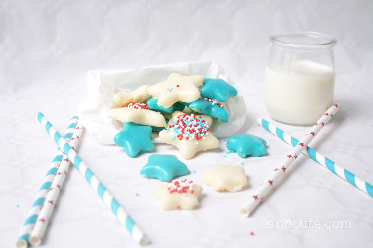 Patriotic 4th of July Star Cookies with Chocolate Icing