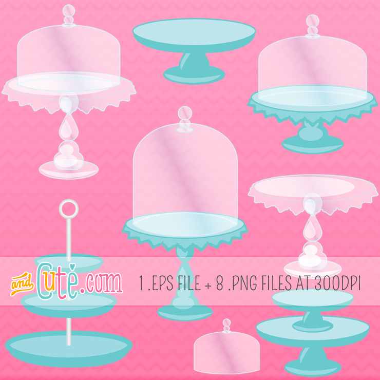 Cake On Stand Clip Art