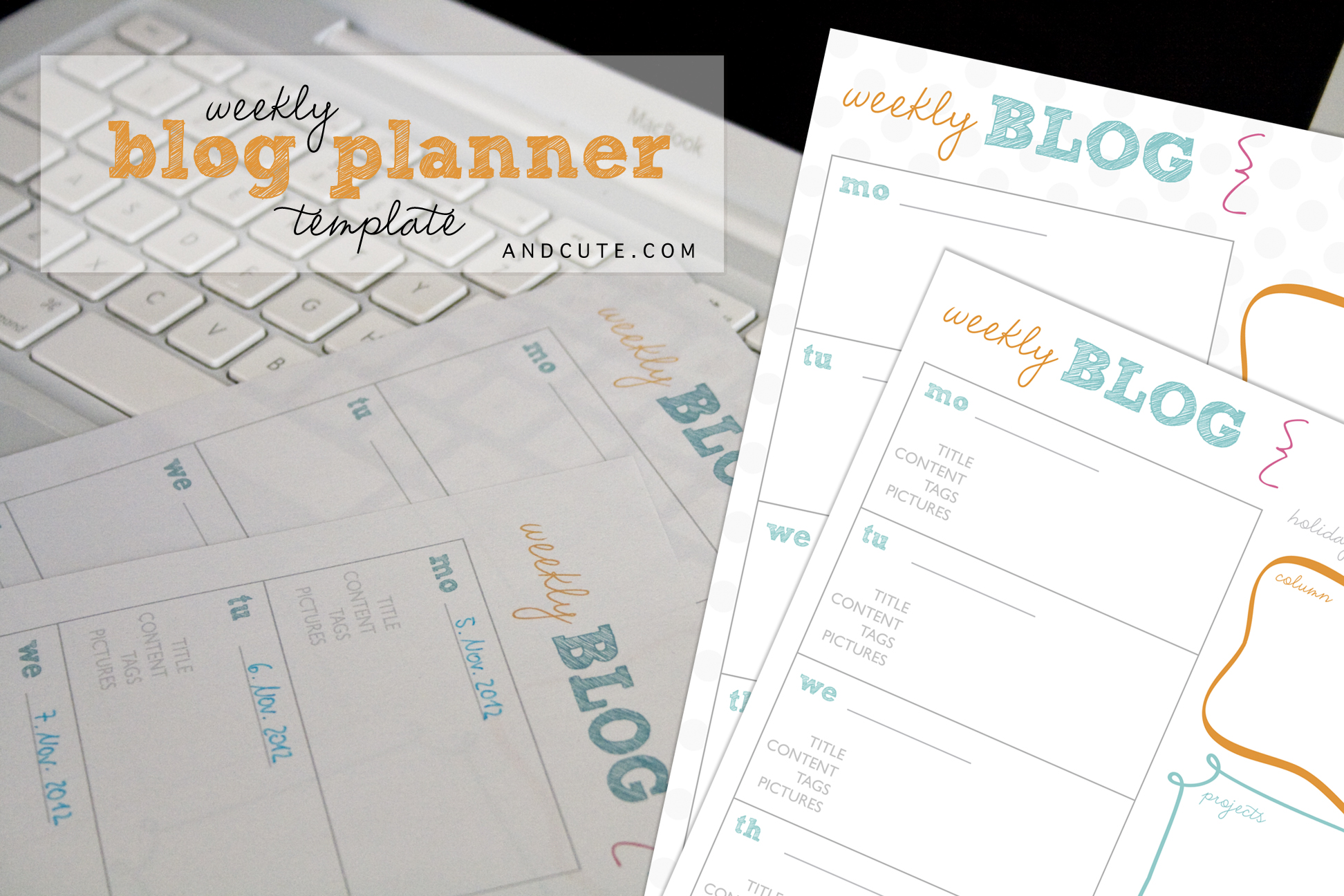 graphic about Blog Planner Template identified as Weekly Blog site Planner Printable Template