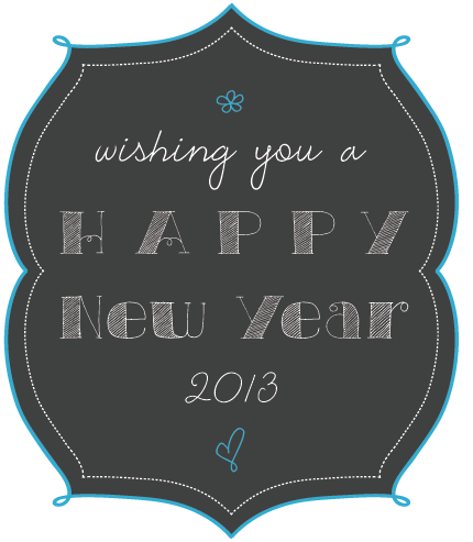 Happy New Year 2013 with Printable Mini Poster