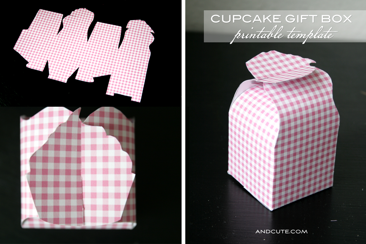 Cupcake Gift Box Printable Template