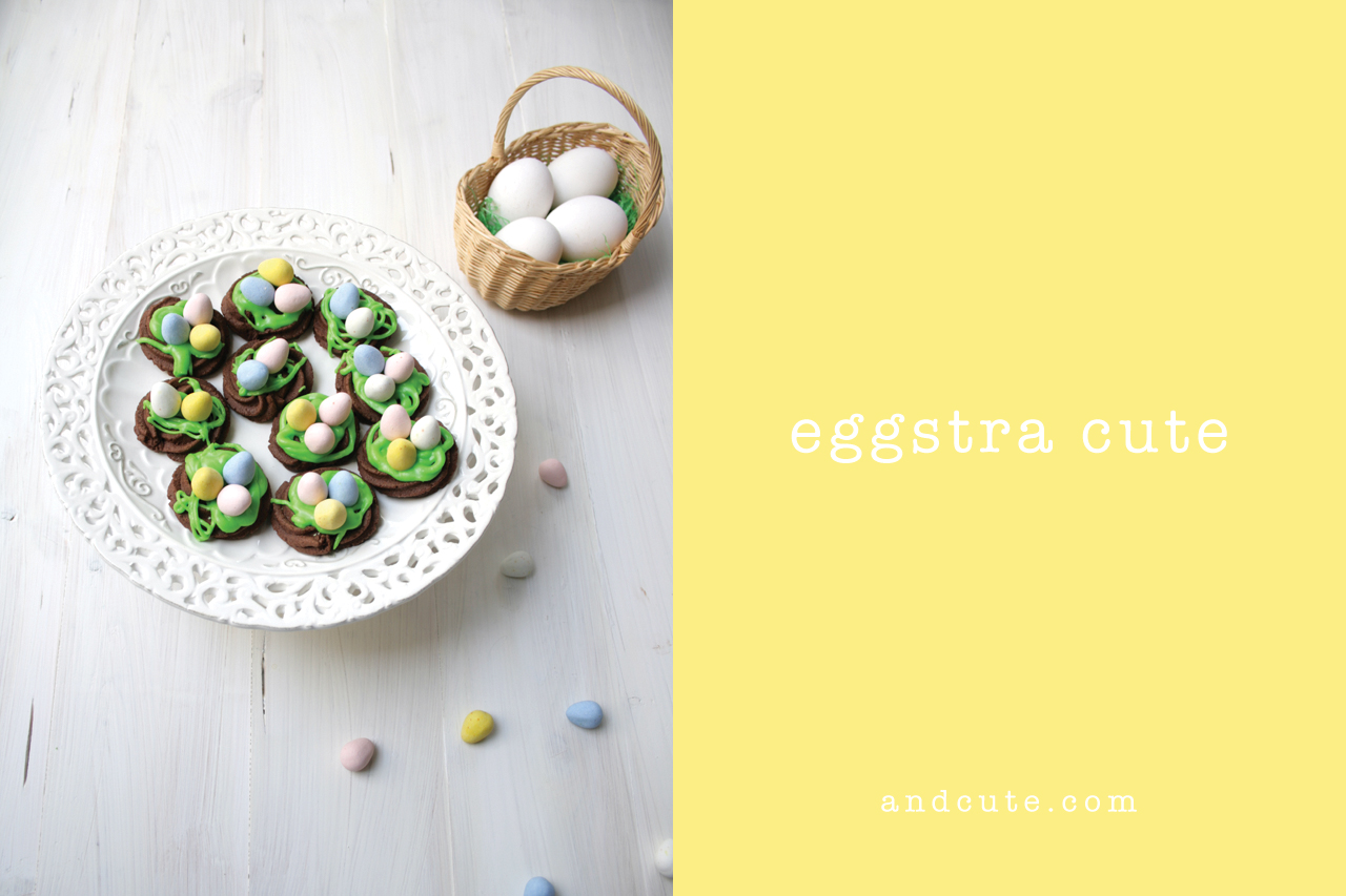 Chocolate Cookie Nests Eggstra