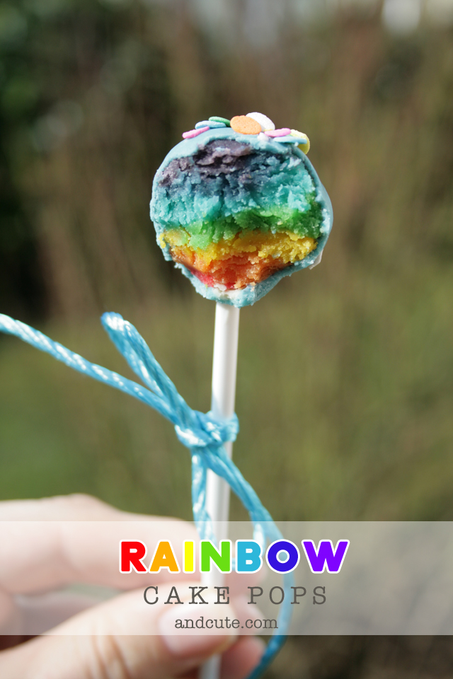 Rainbow Cake Pops From Scratch