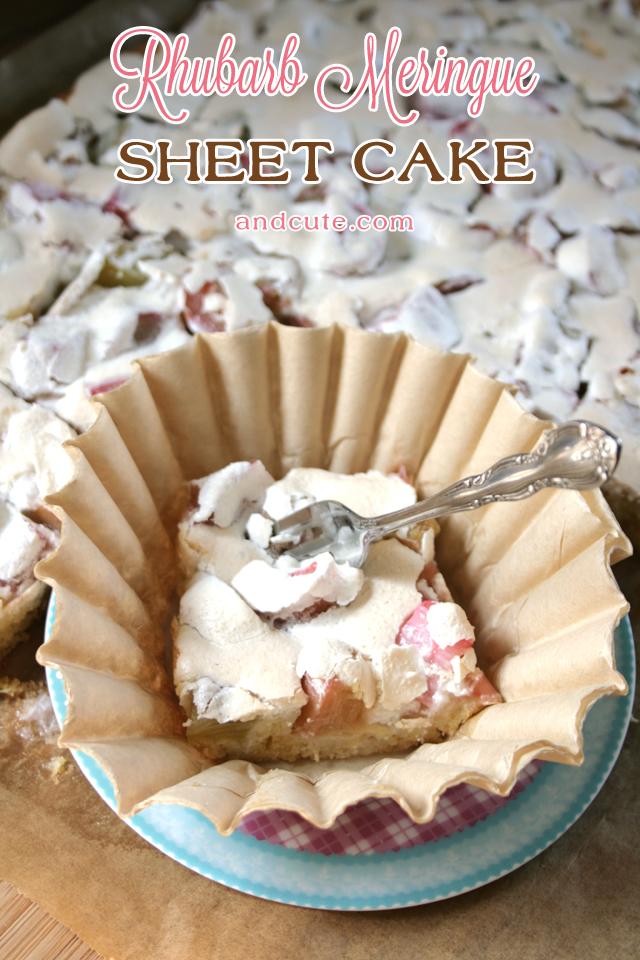 Rhubarb Meringue Sheet Cake