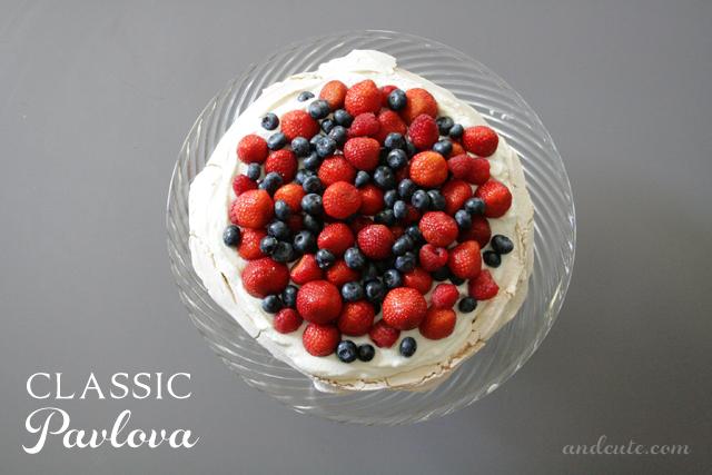Classic Pavlova With Fresh Berries