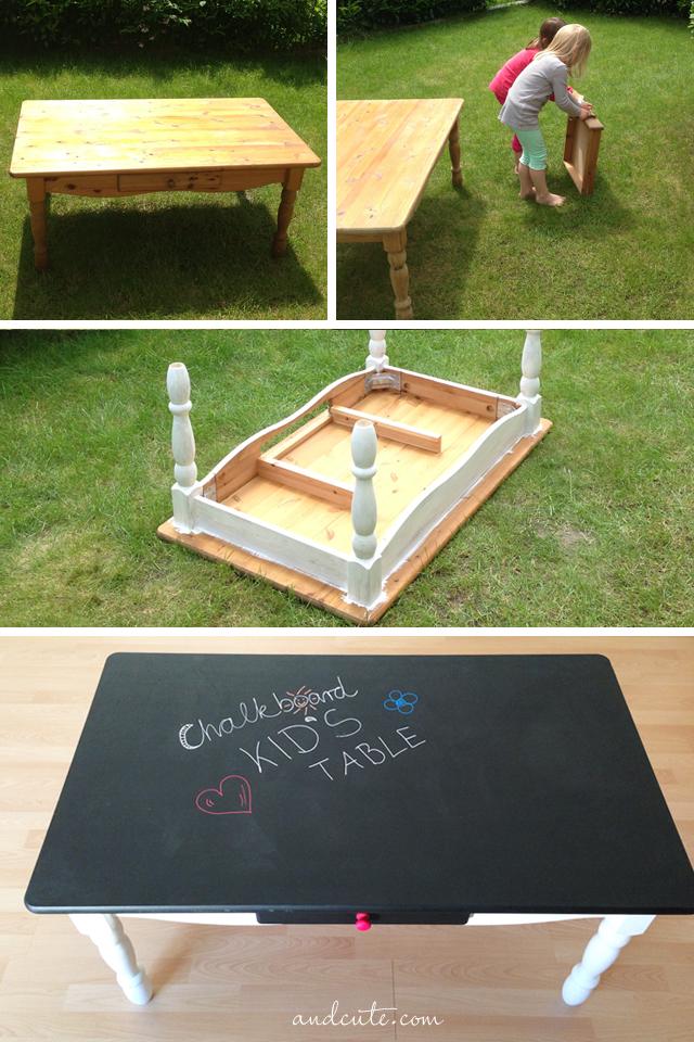 DIY Chalkboard Kids Table