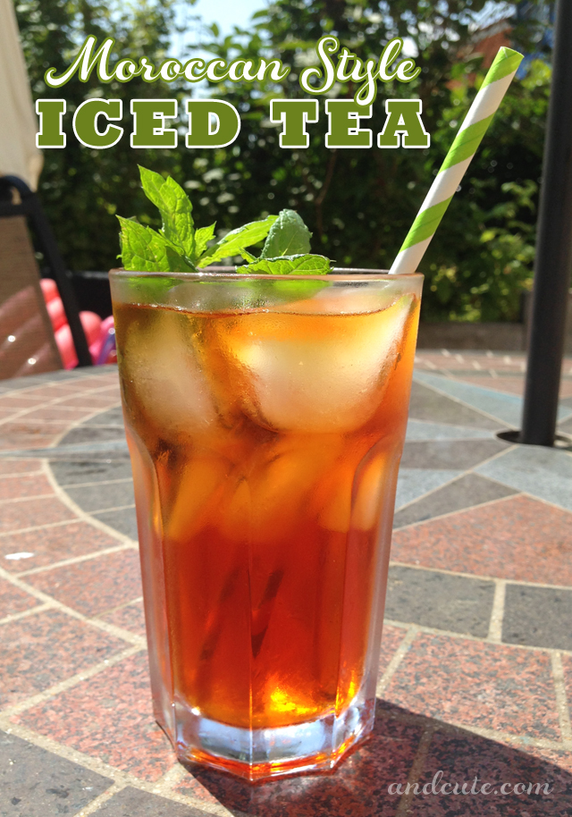 Moroccan Style Iced Tea