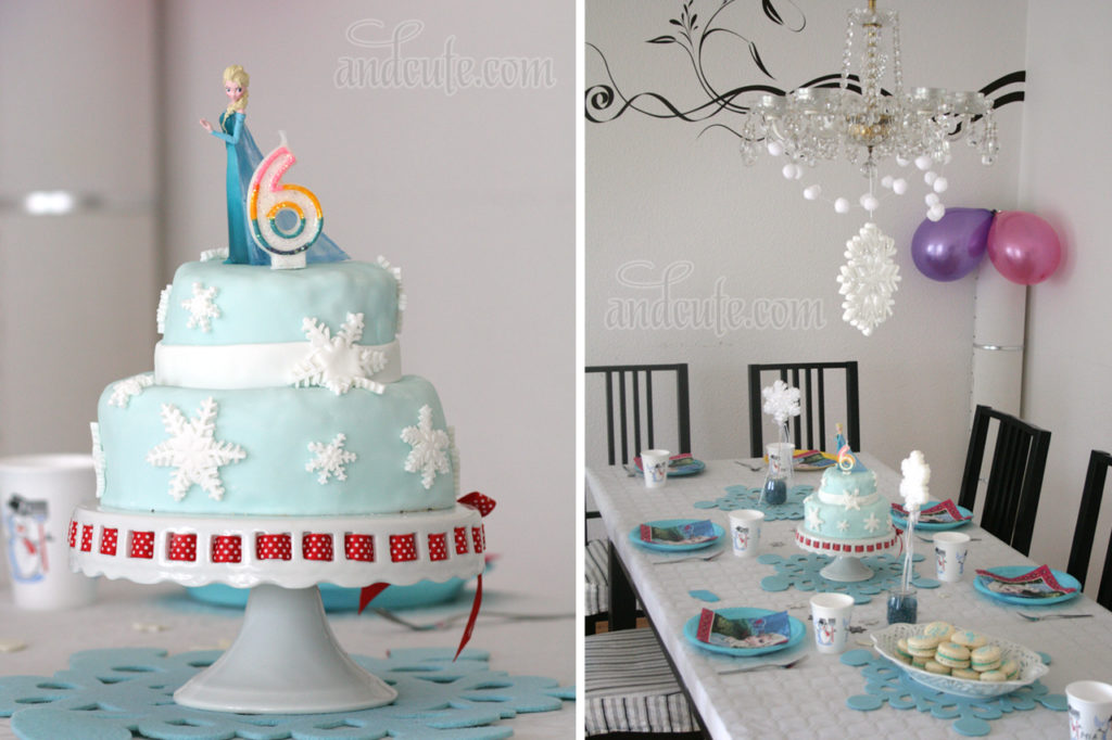 Frozen Elsa Cake with Snowflakes